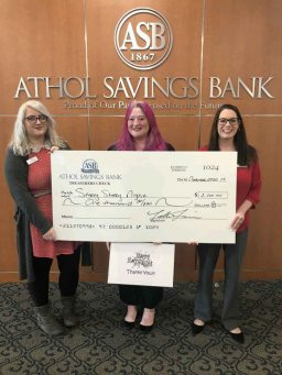 Athol Savings Bank employees with Crystal Parent of ORP (center)